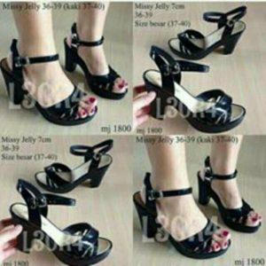 Sepatu Jelly Heels IMPORT Merek BARA BARA