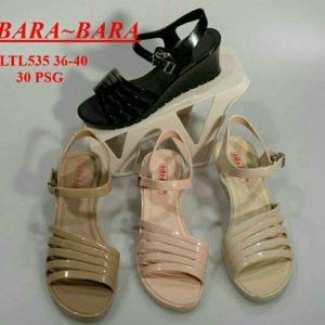 Sepatu Jelly Wedges Tali IMPORT MEREK BARA BARA