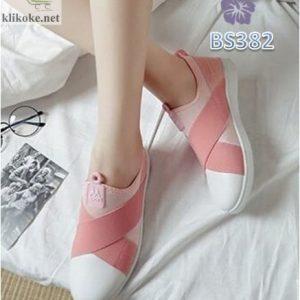 Sepatu Wanita Slip On Sport MX Pink BS382
