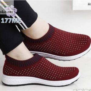 Sepatu Wanita Slip On Sock Slavina 177