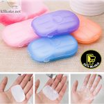 SABUN KERTAS CUCI TANGAN DISPOSABLE HAND WASHING TABLET TRAVEL TOILET DB